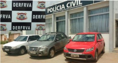Veículos apreendidos pela Polícia Civil