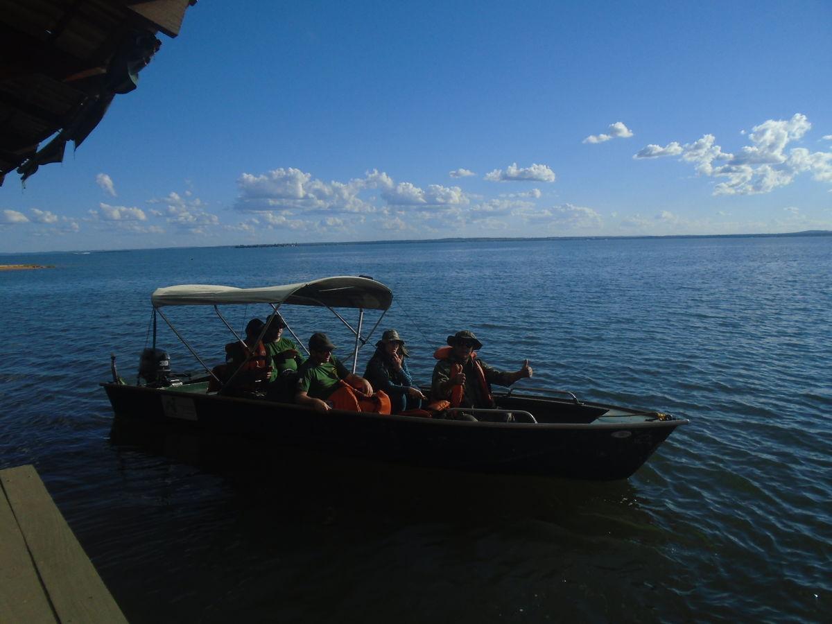 Fiscalização do Naturatins apreende 3.500 metros de redes em operação no Lago de Palmas_Foto Base da Graciosa-Naturatins (2)