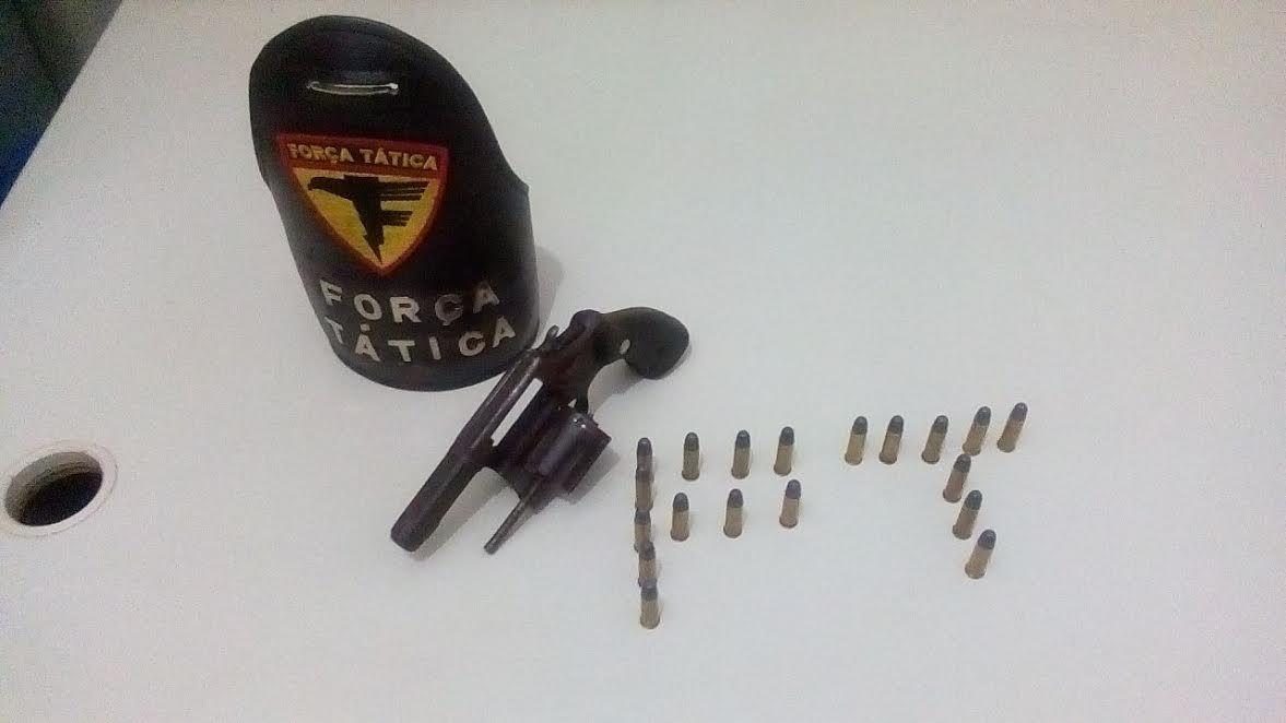 Arma de fogo apreendida pela PM em Araguaína.