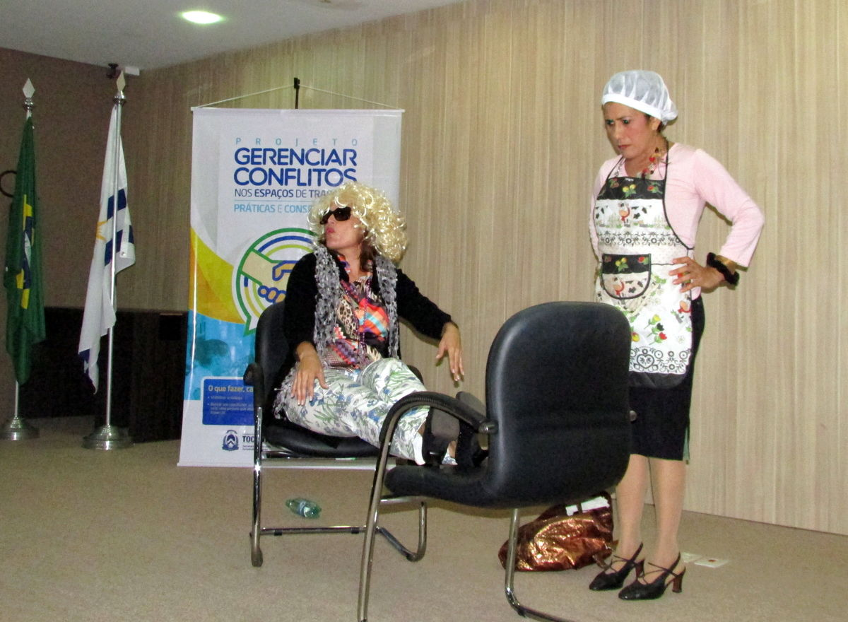 Trupe da Cultura, formada por servidores da Seduc (Foto: Núbia Daiana Mota / Governo do Tocantins)
