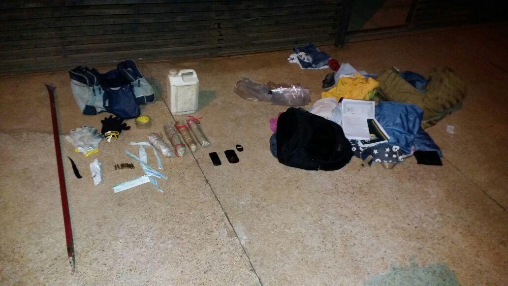 explosivos e objetos apreedidos em Palmas