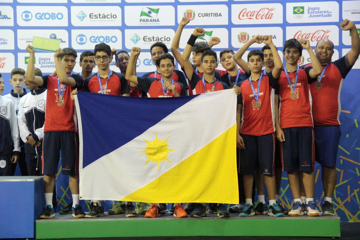 Handebol do Tocantins leva bronze nos Jogos Escolares da Juventude em  Curitiba 403e475fe4ad3