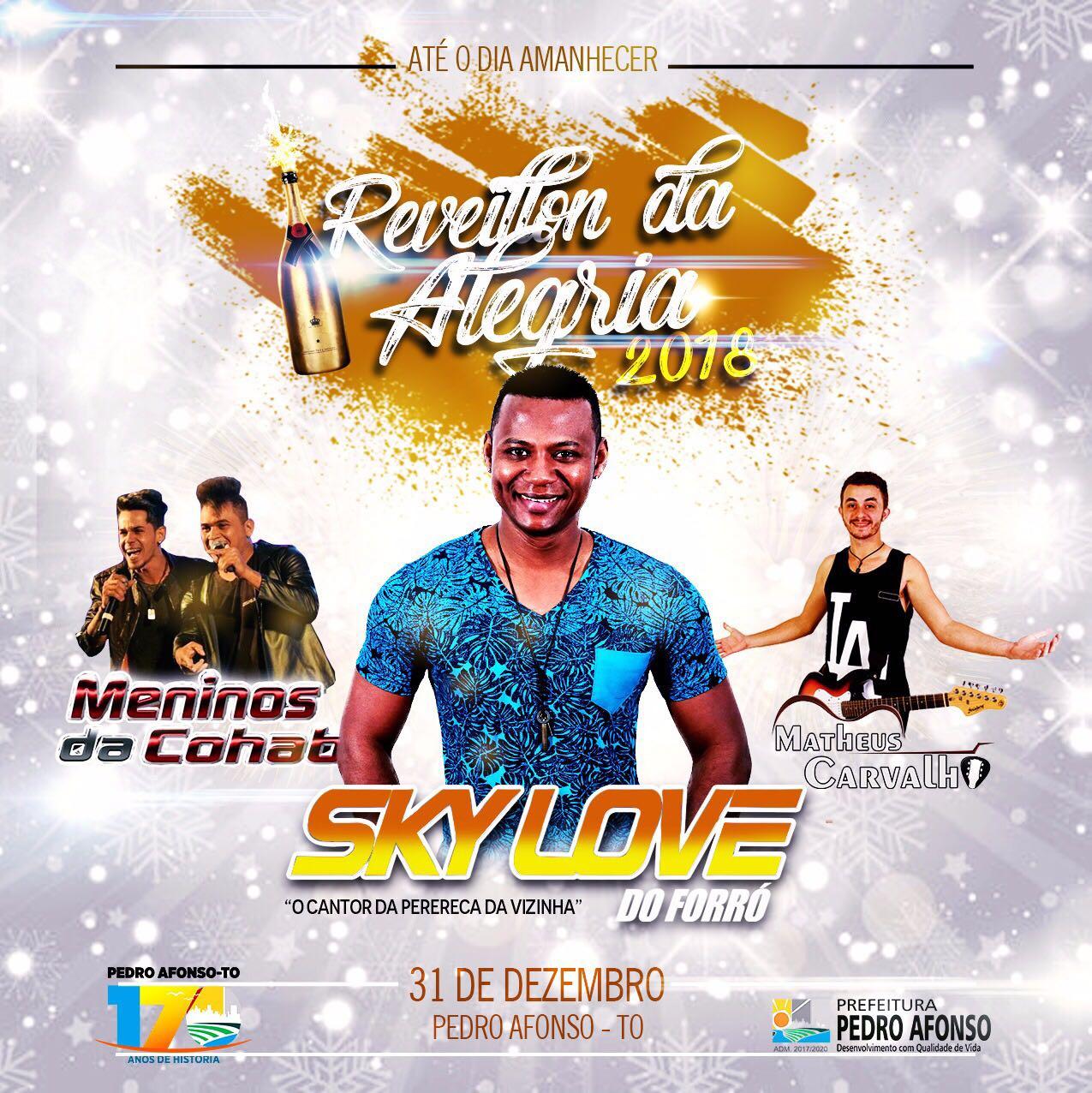 Pedro Afonso: Réveillon terá três atrações e nove horas de apresentações