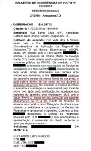 Documento mostra que celular continha suposto gabarito de prova do Concurso da PM