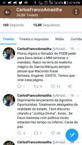 """Amastha desqualifica discursos no evento do governo: """"Se Deus mexesse com política vocês estariam faz tempo no inferno. Caras de pau"""""""