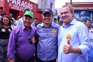 Ao lado de Carlesse, Lázaro reforça pedido de voto em Colinas, Araguatins e Augustinópolis