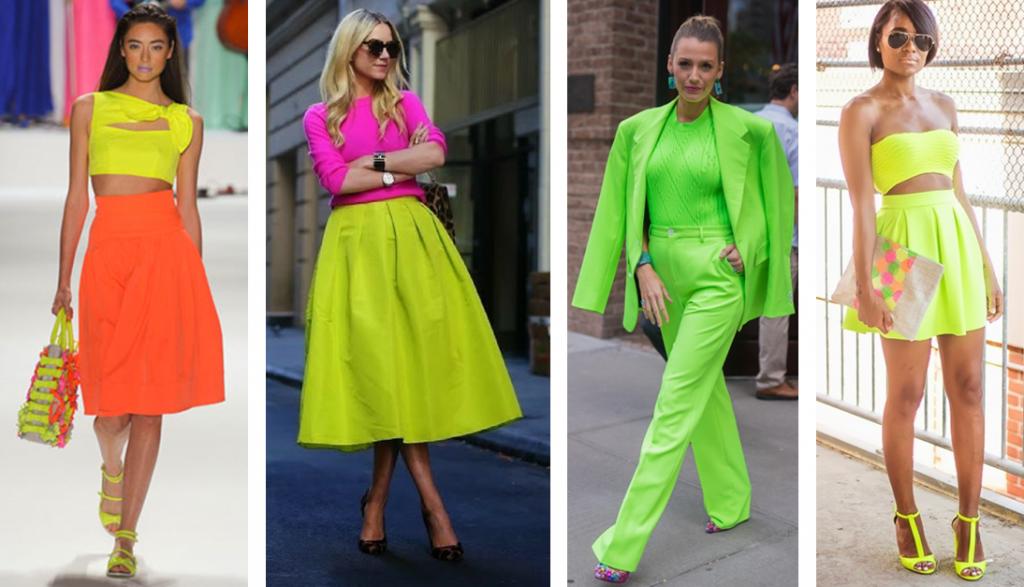 Resultado de imagem para cores neon looks 2019